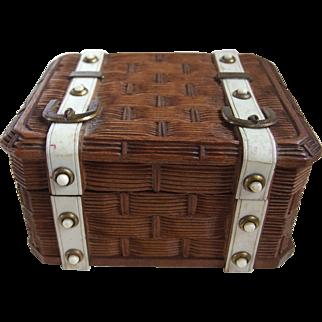 Black Forest Picnic Basket Pocket Watch Holder