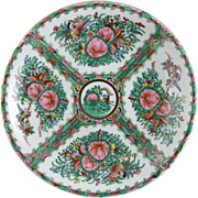 Vintage Chinese Rose Canton Platter