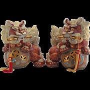 Vintage Japanese Ceramic Guardian Lions – Kara Shishi