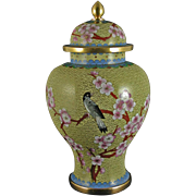 Vintage Chinese Cloisonne Vase – Baluster design with domed cover