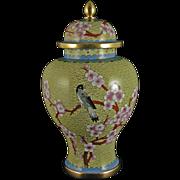 Vintage Chinese Cloisonne Vase – Baluster design with domed cover