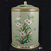 Vintage Chinese Cloisonne Cookie Jar
