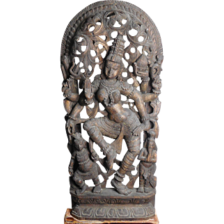 Hindu Goddess - Vintage Wood Carving - Balinese