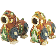 Vintage Chinese Ceramic Foo Lion Incense Burners