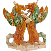 Vintage Chinese Ceramic Mythical Beasts