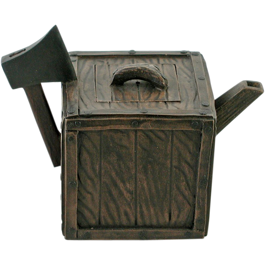Handmade Chinese Yi Xing Axe and Woodblock Teapot
