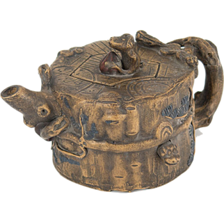 Handmade Chinese Yi Xing Monkey Teapot