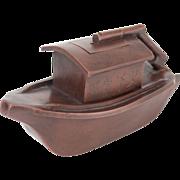 Handmade Chinese Yi Xing Boat Teapot