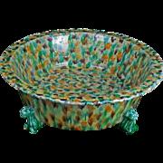 Vintage Italian Porcelain Terra Cotta Basin