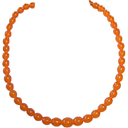Vintage Baltic Butterscotch Honey Amber Bead Necklace
