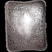 Art Nouveau Sterling Silver Repousse Cigarette Case circa 1920's