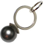 Mod Designer, 14k White Gold Black Tahitian Pearl Pendant, 11mm, 5.7 Grams