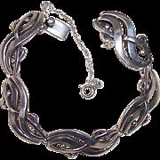 Vintage Miguel Garcia Martinez & Jose Luis Flores Sterling Silver Swirl Bracelet