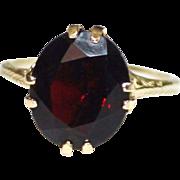 Antique Victorian 14k Yellow Gold Filigree Garnet Ring, Size 6.75