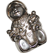 CAROLY FELLEY Sterling Silver Storyteller Pendant, '90, 10.8 Grams