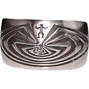 HYSON CRAIG, IHMSS, NAVAJO Sterling Man in Maze of Life Cuff Bracelet 66.5 Grams