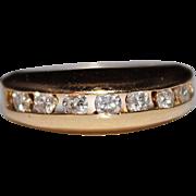 Estate 14k Yellow Gold .49 CTW Diamond Channel Band Ring, Size 6, 4.6 Grams