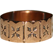 Antique Victorian 10k Rose Gold Cigar Band Ring, Size 8, 1.9 Grams