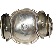 Vintage Sterling Silver Taxco Mexico Armadillo Cuff Bracelet, Aquilar Style