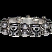VICTORIA Sterling Mexican Cut Out Angel Bracelet, Taxco, #53, Ana Nunez Brilanti