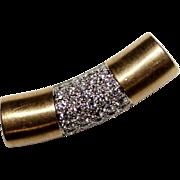 Elegant Vintage 18k Yellow Gold .90 CTW Diamond Slide Pendant, 7.7 Grams