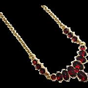 Gorgeous Vintage BOHEMIAN GARNET Necklace, Germany