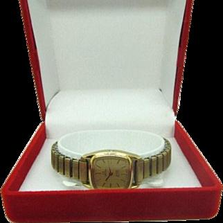 Vintage 1980 Ladies Omega Deville wrist watch new battery ready to wear