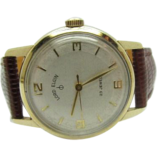 Vintage Men's Lord Elgin 23 jewel wrist watch new band and crystal fine runs