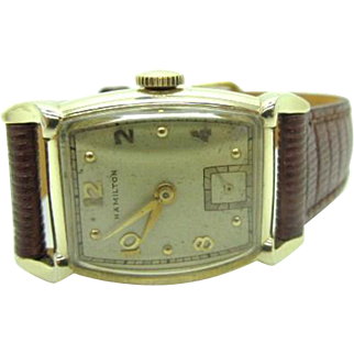 Vintage 1953 Men's Hamilton Grover watch 752 cal very fine running new band