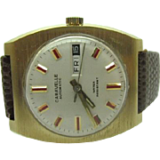 Vintage 1972 Mens Caravelle by Bulova 17 jewel Automatic watch near mint