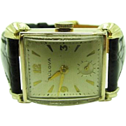 "Vintage 1951 Men's Bulova ""Harrington"" Model wrist watch very fine condition"