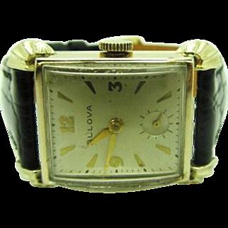 "Vintage 1951 Men's Bulova ""Harrington"" Model wrist watch very fine condition"