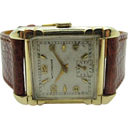 Vintage 1950s Mid Century Mens Wittnauer-Longines watch Fancy case very fine