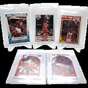 "The ""Essential 5"" Michael Jordan Collectors lot 1989 Fleer Sticker #3,Base #21"