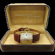 Vintage 1980s Mens Hamilton Masterpiece 763 cal original case near mint