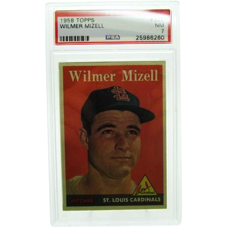 1958 Topps #385 Wilmer Mizell Psa Graded 7.0 Near Mint 25986260