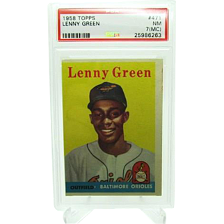 1958 Topps #471 Lenny Green Psa Graded 7 (MC) Near Mint 25986263