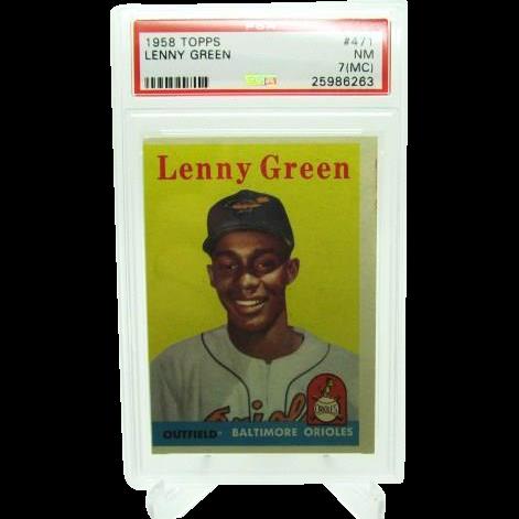 1958 Topps #471 Lenny Green Psa Graded 7 (MC) Near Mint 25986263
