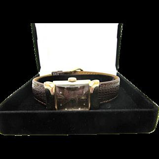 "Vintage 1945 Men's Bulova ""Squadron B"" Model wrist watch fine condition"