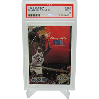 1992 Skybox #382 Shaquille O'neal PSA graded Mint 9 NO RESERVE