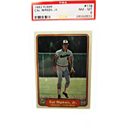 1982 Fleer #176 Cal Ripken Jr. Orioles RC Rookie HOF PSA Graded 8 NM/M 26002632