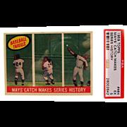 1959 Topps Set Break #464 Mays' Catch Makes Series History! PSA 5 26002642