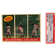 1959 Topps Set Break #464 Mays' Catch Makes Series History! PSA 5 26002642