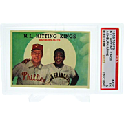 1959 Topps #317 N.L. Hitting Kings Willie Mays & Richie Ashburn PSA 5 26002641