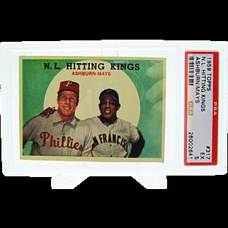 1959 Topps #317 N.L. Hitting Kings Willie Mays & Richie Ashburn PSA 5 26002641