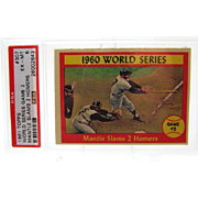 1961 Topps #307 World Series Game 2 Mickey Mantle PSA Graded 6 EX-MINT 26002643