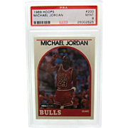 1989 Hoops #200 Michael Jordan HOF PSA graded MINT 9++++Investment 26002625