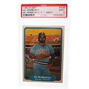 1982 Fleer #438 Al Hrabosky Error 5'1'' Height PSA Graded 9 Mint 26002633