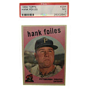 1959 Topps #294 Hank Folies PSA Graded 7 Near Mint 26002640
