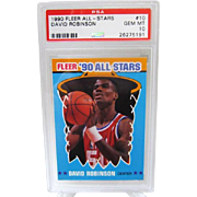 1990 Fleer All-Stars #10 David Robinson PSA Graded GEM MINT 10+ 26275191 INVEST